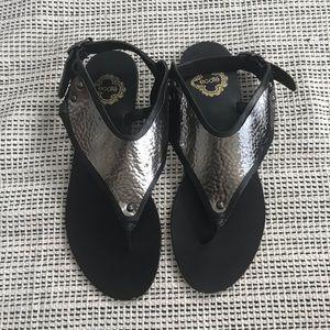 Ecote gunmetal Sandals 8
